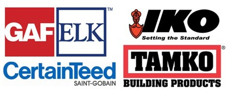 logos of roofing material companies
