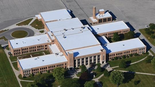 School with Duro Last roof
